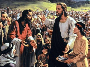 Crowds followed Jesus