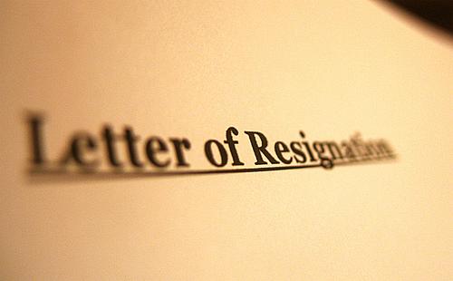 resign as pastor