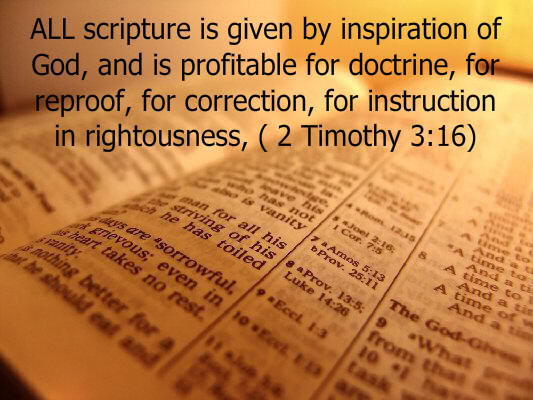 Inspiration 2 Timothy 3:16