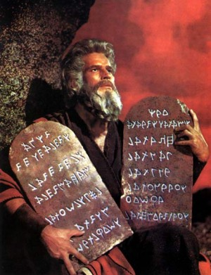 Moses tablets of stone