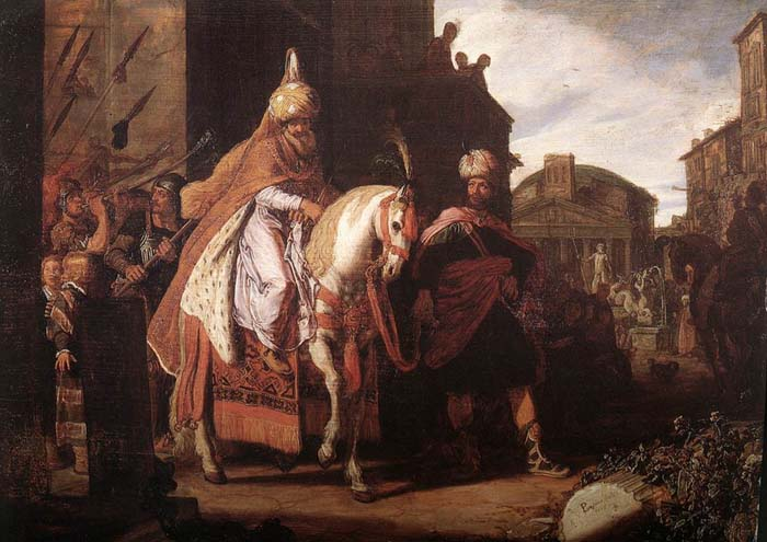Esther 6 Haman Leads Mordecai Through the Streets of Susa
