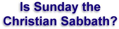 Sabbath to Sunday