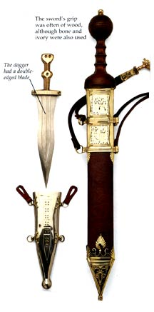 Roman soldier swords