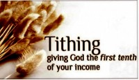 Tithe 3 Percent to your Church