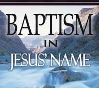Baptized in the Name of Jesus