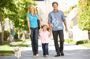 take a dog walk neighbood