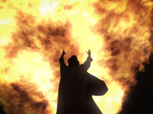 fire from Jesus