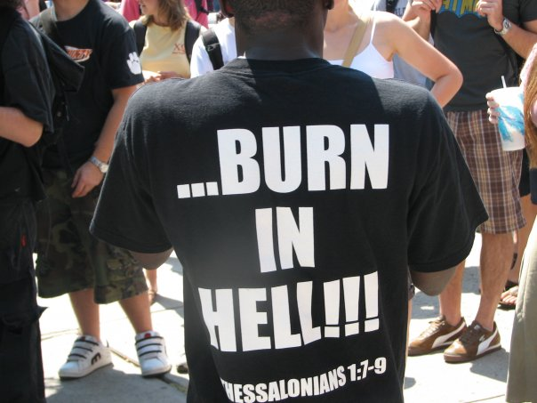 You're Disgusting! Burn in Hell!
