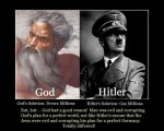 Comparing God with Hitler