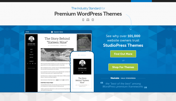 Best WordPress Theme by StudioPress