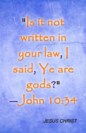 sons of God John 10 34