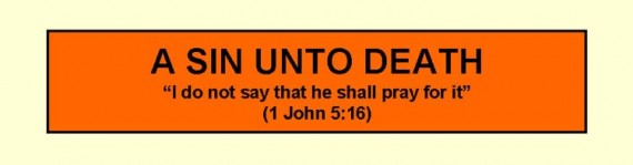 sin unto death