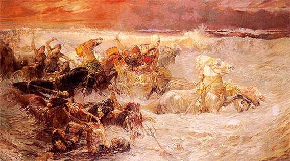Bildergebnis für EGYPTIAN ARMY PERISHING at the red sea