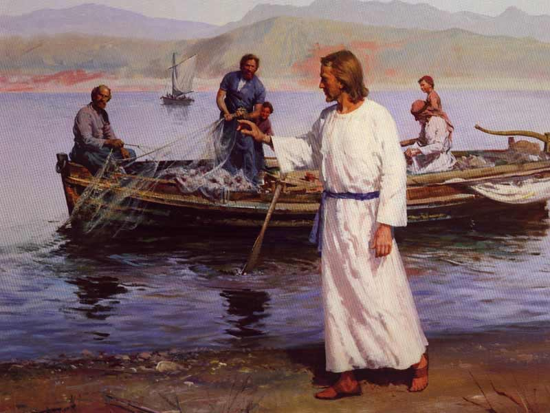 Image result for peter fishing jesus