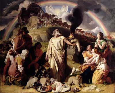 Noah delivered from the flood