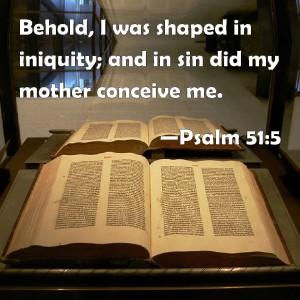 born in sin Psalm 51 5