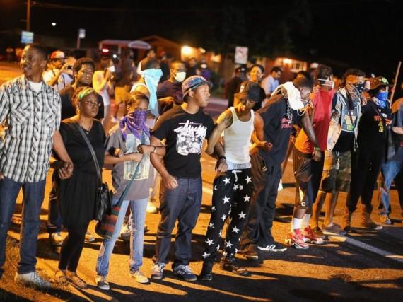 Jesus in Ferguson Protests