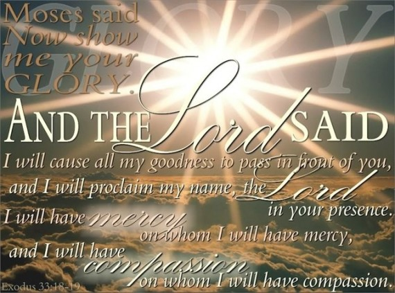 Exodus 33:19 mercy and compassion