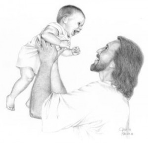 Jesus with baby