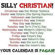 pagan christian calendar