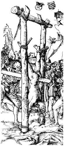 Prophet Isaiah sawed in half