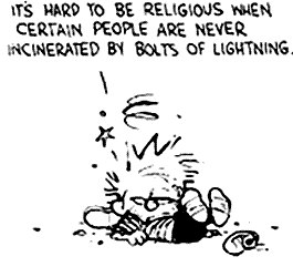 hard to be religious calvin and hobbes