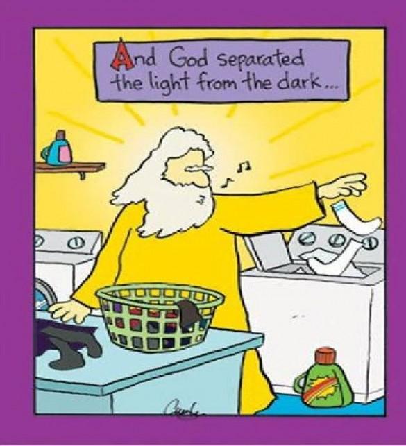 God separated light from dark