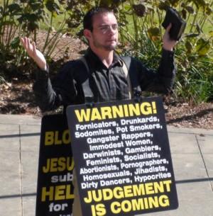 sandwich board Christian laws