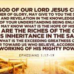 The Believer's Bankbook (Ephesians 1:15-19)