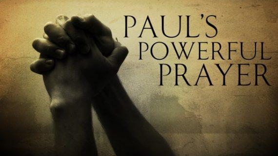 prayer is powerful Ephesians 3