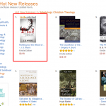 "Thank you! My new book is the #1 Hot New Release in ""Theology – Soteriology"" on Amazon"