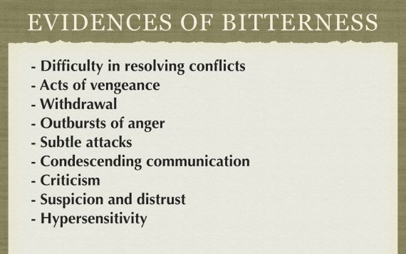signs of bitterness