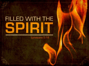 Ephesians 5:18 filled with the Holy Spirit