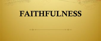 faithfulness of God